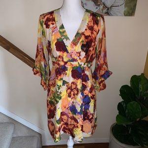Anthropologie Maeve silk floral mini dress size 6